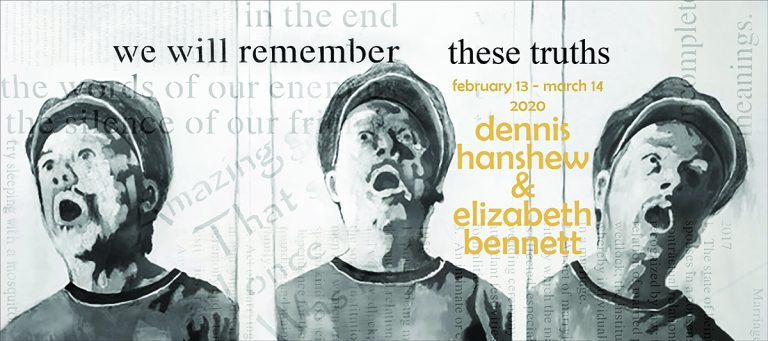 we will remember   these truths: Dennis Hanshew and Elizabeth Bennett